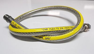 Plynová hadice SAX 3 plášťová G1/2'' DN 12 100 cm flexibilní - 1