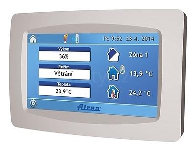 Dotykový ovladač Atrea CP touch, barva - šedá