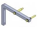 Konzola vertikální pro dveřní clonu GUARD